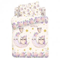 Детское постельное белье Juno Owls (поплин)