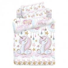 Детское постельное белье Juno Unicorns (поплин)