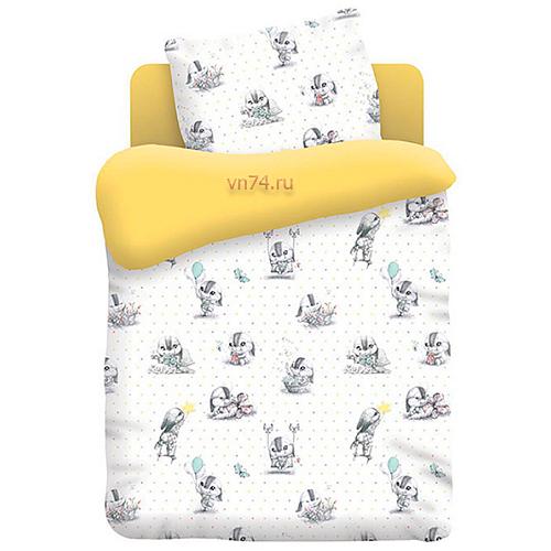 Детское постельное белье Непоседа Зайчата (поплин)