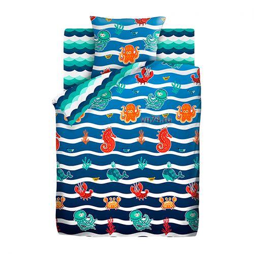Детское постельное белье Time to dream Подводный мир (сатин)
