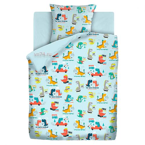 Детское постельное белье Time to dream Веселые динозавры (бязь-люкс)