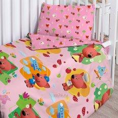 Детское постельное белье Ми-ми-мишки Лисичка (поплин)