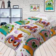 Детское покрывало Непоседа стёганное Angry Birds 2 Птенчики (хлопок)