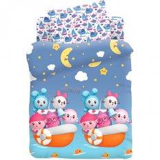 Детское постельное белье Малышарики Морское приключение (поплин)