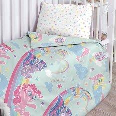 Детское постельное белье My Little Pony Радужные пони (поплин)
