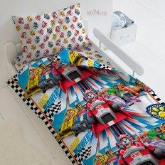 Детское постельное белье Щенячий патруль Щенячьи гонки (бязь-люкс)