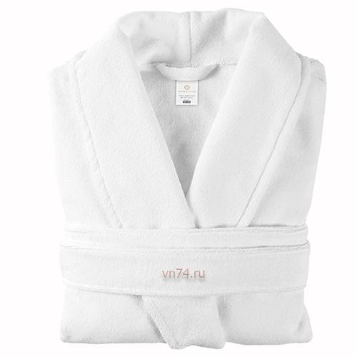 Халат махровый Home&Style белый (хлопок)