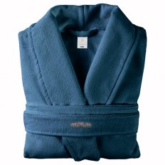 Халат махровый Home&Style синий (хлопок)