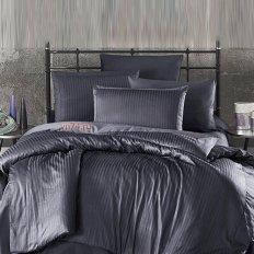 Постельное белье Ecosse Gizgili Grey (сатин-страйп)