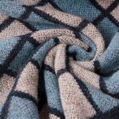 Одеяло зимнее Vladi Клетка овечья шерсть