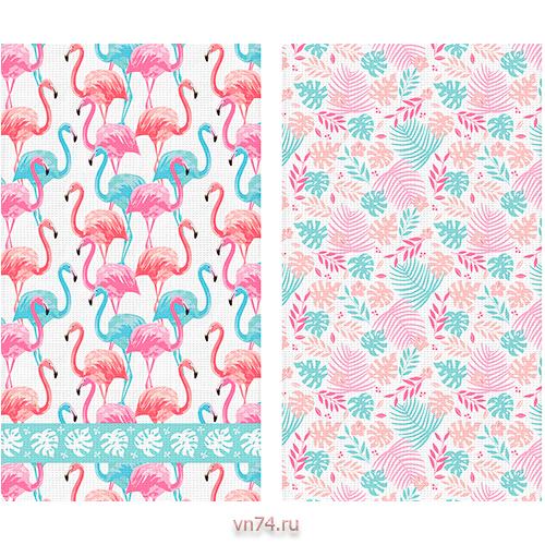 Набор вафельных полотенец Солнечный дом 35x70 Фламинго (2 предмета)