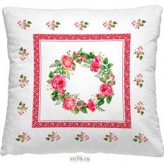 Подушка декоративная 40 x 40 Шиповник 4