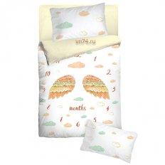 Детское постельное белье с резинкой на простыне Облачко First year (бязь-люкс)