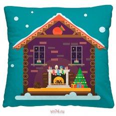 Подушка декоративная 40 x 40 Пряничный домик