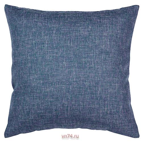 Подушка декоративная 40 x 40 рогожка индиго