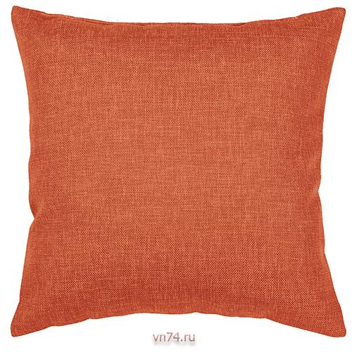 Подушка декоративная 40 x 40 рогожка коралл