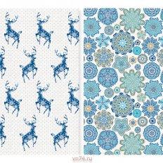 Набор вафельных полотенец Солнечный дом 35x70 Новогодние олени (2 предмета)