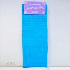 Полотенце вафельное Солнечный дом 35x70 синий (крупная клетка)
