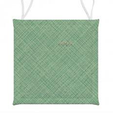 Подушка для стула СД хб 40x40 Лен зеленый
