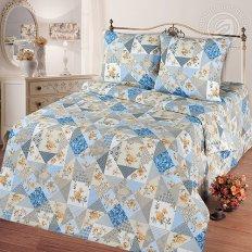 Постельное белье Арт-постель Лоскутная мозаика голубой (бязь-люкс)