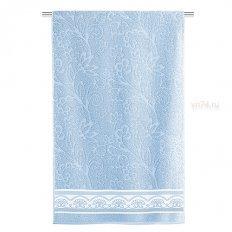 Полотенце махровое Aquarelle Fluid lace Светло-васильковый