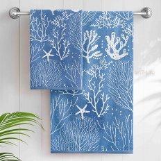 Полотенце махровое Aquarelle Sea-кораллы Классический синий