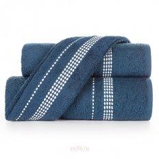 Полотенце махровое Aquarelle Лето темно-синий