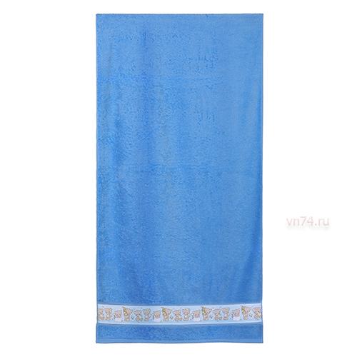 Полотенце детское Aquarelle мишки и звезды Спокойный синий