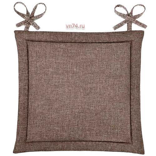 Подушка для стула HS рогожка 40x40 Шоколад