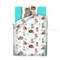 Детское постельное белье For You Fun&Cute Grey kittens (поплин)