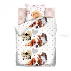 Детское постельное белье For You Fun&Cute Puppy and Bunny (поплин)