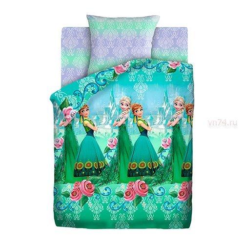 Детское постельное белье Холодное сердце - Анна и Эльза (бязь-люкс)