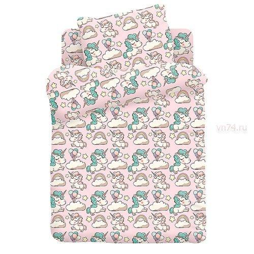 Детское постельное белье Кошки-мышки Единорожки (бязь-люкс)