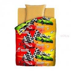 Детское постельное белье Непоседа Формула 1 (бязь-люкс)