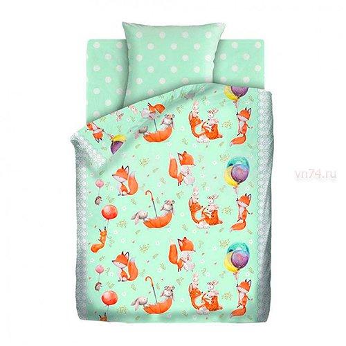 Детское постельное белье Непоседа Лисята (бязь-люкс)