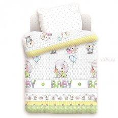 Детское постельное белье Непоседа Слонята (поплин)