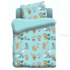 Детское постельное белье Непоседа Тедди (поплин)