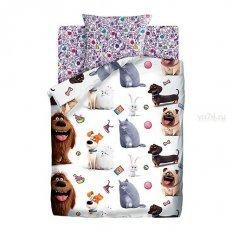 Детское постельное белье Тайная жизнь домашних животных 2 Домашние питомцы (поплин)