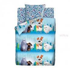 Детское постельное белье Тайная жизнь домашних животных 2 В городе (поплин)