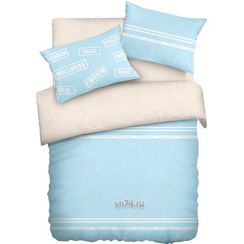 Постельное белье Wenge Uno песочно-голубой (бязь-гост)