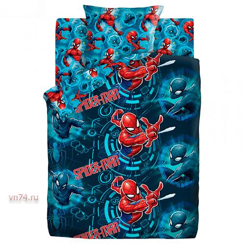 Детское постельное белье Человек Паук Neon Непобедимый (бязь-люкс)