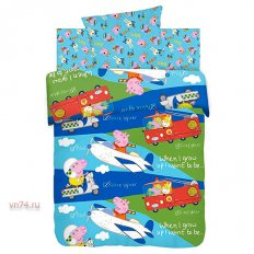 Детское постельное белье Свинка Пеппа Профессии (бязь-люкс)