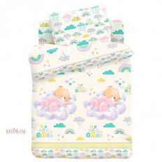 Детское постельное белье Облачный сон (поплин)