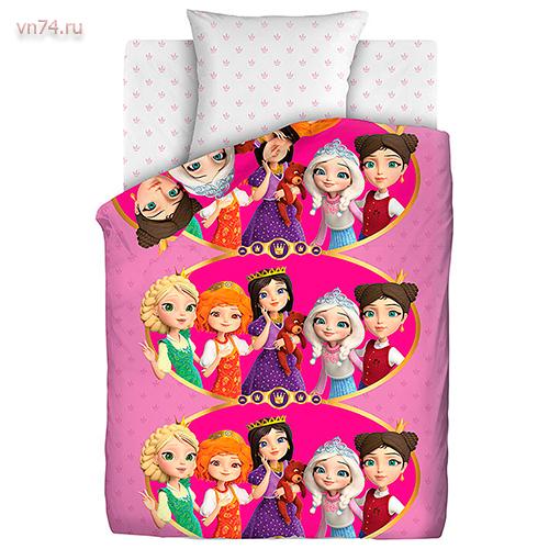 Детское постельное белье Царевны (поплин)