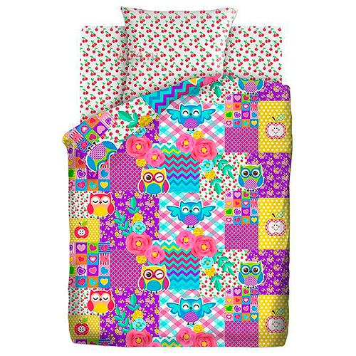 Детское постельное белье Непоседа Цветные совушки (бязь-люкс)