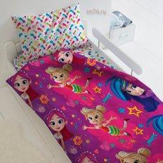 Детское постельное белье Фееринки Бусинка, Фантик и Дрёма (поплин)