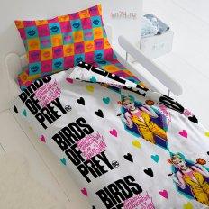 Детское постельное белье Харли Квинн Хищные птицы (поплин)