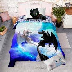 Детское постельное белье Как приручить дракона День и ночь (поплин)