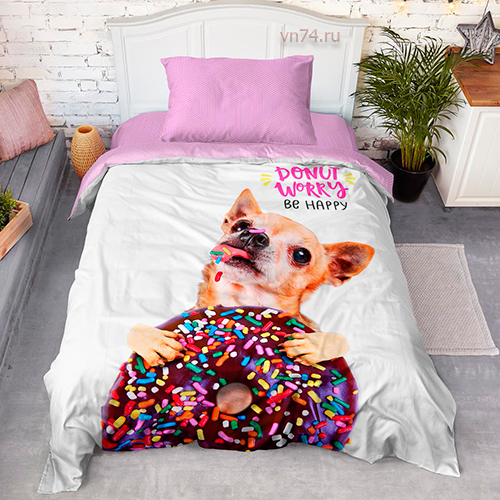 Постельное белье For You Dreams Donut (поплин)