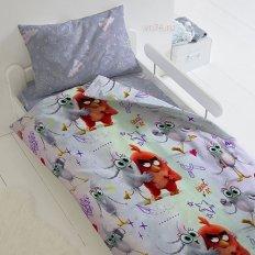 Детское постельное белье Angry Birds 2 Ред и Сильвер (бязь-люкс)